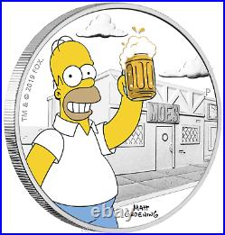 2019 The Simpsons Homer Simpson Proof $1 1oz Silver COIN NGC PF 70 ER