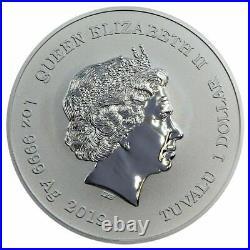 2019 Tuvalu Marvel Series Captain America 1 oz Silver Capsuled BU Coin IN STOCK