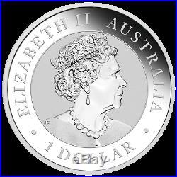 2019 World Money Fair Berlin Show Special Kookaburra 1oz $1 Silver Colored Coin