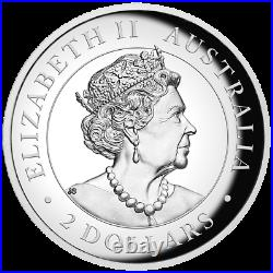 2020 Australia $2 High Relief Brumby Horse 2 oz Silver Proof Coin 1,000 Made