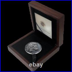 2020 Cameroon Panthera Leo Lion 2 oz. 999 Silver Antiqued Coin Mintage 500