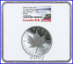 2020 Canada 2 oz Silver Pulsating Maple Leaf Proof $10 NGC PF70 UC FR SKU59156