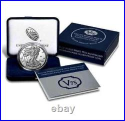 2020 End of World War 2, 75th Anniversary. 999 Fine Silver Coin Made By US Mint