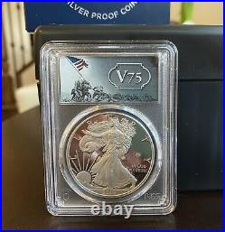 2020 End of World War II 75th Anniversary Silver Eagle 2-Coin Set PCGS PR70DCAM