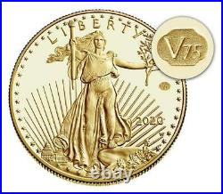2020 GOLD & SILVER End of World War II 75th Anniversary American Eagle IN HAND