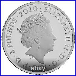 2020 Great Britain £2 James Bond 007 Pay Attention 1 oz Silver Coin NGC PF 69