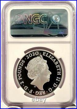 2020 Great Britain James Bond Shaken Not Stirred 1 oz Silver Coin NGC PF 70