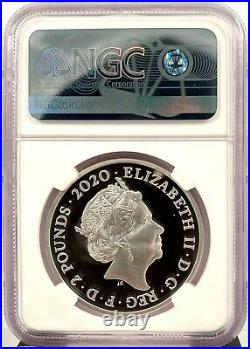 2020 Great Britain Music Legends David Bowie 1 oz Silver Proof Coin NGC PF 70