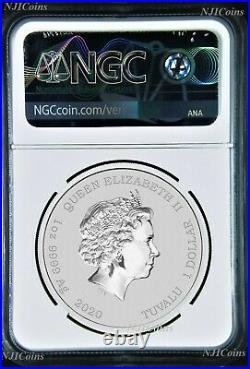 2020 James Bond 007.9999 SILVER BULLION $1 1oz COIN NGC MS70 First Releases