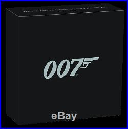 2020 James Bond 007 HIGH RELIEF SILVER PROOF $1 1oz COIN NGC PF70 Ultra Cameo