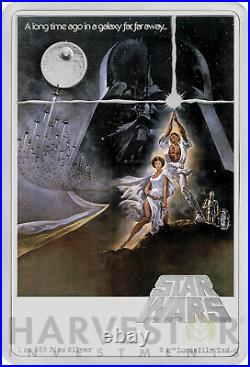 2020 Star Wars A New Hope Poster Coin 1 Oz. Silver Coin Mintage 1,977