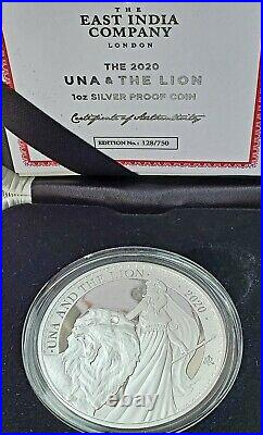 2020 Una and the Lion 1 Oz Silver Proof Only 750 Minted SOLD OUT WORLDWIDE