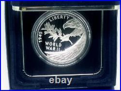 2020 W End of World War 2, II 75th Anniversary 1oz Silver Medal Eagle