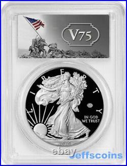 2020 W End of World War 2 Privy 75th WW2 Proof 70 Silver Eagle PF70 PCGS PR70