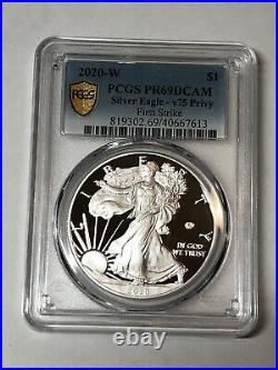 2020 W End of World War II 75 Anniversary American Eagle Silver 20XF PCGS PR69