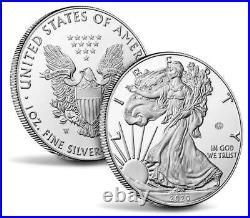 2020 W V75 Privy End of World War II 75th Anniversary American Eagle Silver PR70