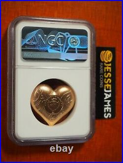 2021 $5 Palau Gilt Silver Rosy Heart Ngc Ms70 Early Releases Only 999 Minted