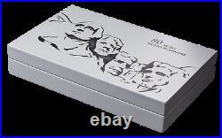 2021 Barbados Mt. Rushmore Gold Gilt 4 x 1 oz Silver Coin Bar Set 250 Made