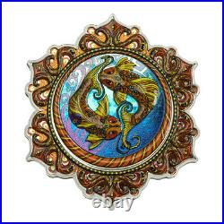 2021 Fish of the 2nd Chakra Phil Lewis 2oz Colorized Silver Solomon Islands Coin