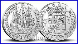 2021 Netherlands Ship Shilling 1 oz. 999 Silver Proof Coin 1,000 Made