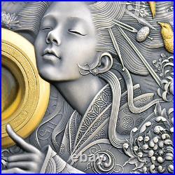 2021 Niue $5 Divine Faces Amaterasu 3 oz 999 Silver Coin 500 Made