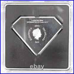 2021 Niue DC Superman Shield 1 oz. 999 Fine Silver $2 Proof Coin Collectible COA