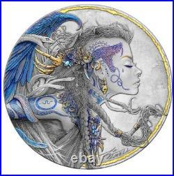 2021 Niue Dark Beauties Euryale 50 gram Silver. 999 Coin Only 250 Minted