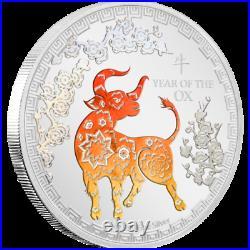 2021 Niue Lunar Year of the Ox Colorized 1 oz Silver Proof Coin NGC PF 70 UCAM