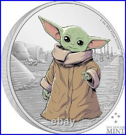 2021 Niue Star Wars Mandalorian The Child Baby Yoda 1 oz Silver Coin SOLD OUT