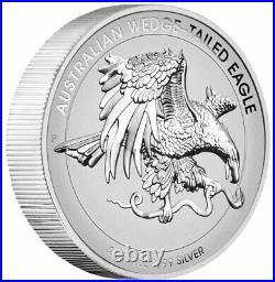 2021 P Australia 1 oz HR Silver Wedge-Tailed Eagle NGC Rev PF70 FR WC Mercanti