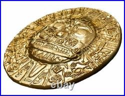 2021 Palau Inca Sun God Ultra High Relief 1 oz Silver Gilt $5 Coin GEM BU OGP