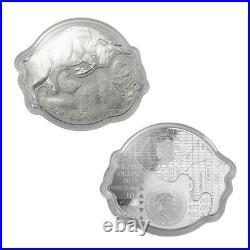 2021 Solomon Islands $2 Bull vs. Bear 1 oz Silver 2 Coin Set Mintage 2,000