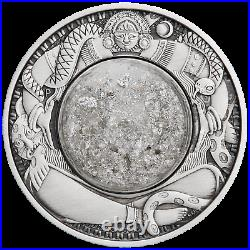 2021 Tears of the Moon 2oz Silver Antiqued dome with white mineral oil in Coin