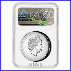2021 Tuvalu 2 oz Proof Silver Homer Simpson High Relief Coin NGC PF 70 ER