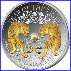 2022 Fiji $10 Lunar Year of the Tiger Proof 1 oz Silver Coin 8,888 Made