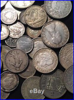 48 ALL SILVER World / Foreign Coins Lot INSTANT COLLECTION! #1