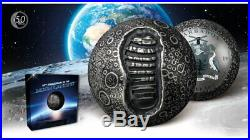 5 $ Dollar 50 Years Moon Landing Apollo 11 Moon Shape Barbados 1 oz Silver 2019