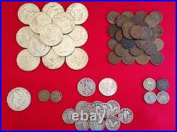 50 Coins From Estate Collection Roman, World, Old Early US 1800s GOLD SILVER