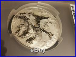 7 Summits Mt. Everest 2017 Cook Ultra High Relief 5 Oz Silver Coin Pcgs Ms70