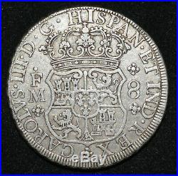 A Mexico 1770 Mo FM Pillar Dollar VF+ Spanish Colonial Silver 8 Reales Pirate co