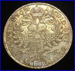 AUSTRIA / 1780 SF Silver Thaler Maria Theresa Venice Mint