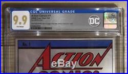 Action Comics #1 35g Premium Silver Foil Cgc 9.9 Mint 0349600001