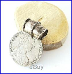 Antique Ethiopian Rare silver Maria Theresa coin pendant 1780s World Coins