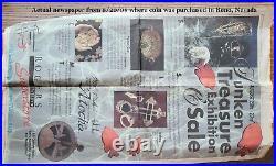 Atocha 4 Reale Silver Grade 1 artifact 1622 COA Fisher Philip III Potosi