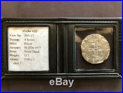 Atocha Fleet Potosi 4 Reales 1556-98 Silver Cob Mel Fisher Pirate Treasure Coin
