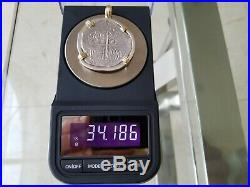 Atocha Shipwreck 8 Reales Grade 1 Mounted Pendant Necklace Treasure Coin Gold