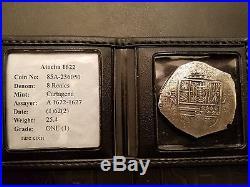 Atocha ULTRA RARE 8 Reales Cartagena Assayer A Phil IV Grade 1 @ $41,000 Value