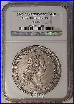 Augsburg 1765 Franciscus Silver Thaler NGC XF45