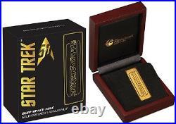 Australia 2016 Star Trek 50th Ann. 1oz Silver Delta Coin & Latinum Slip Bar set