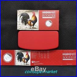 Australia 2017 Year Of Rooster Chinese Lunar Zodiac Silver Proof 3 Coins Set OGP